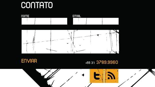 web design social icons - Quartel.com.br