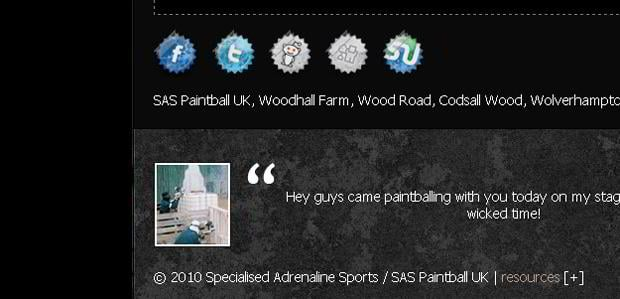 social media icons designs - Saspaintball.co.uk