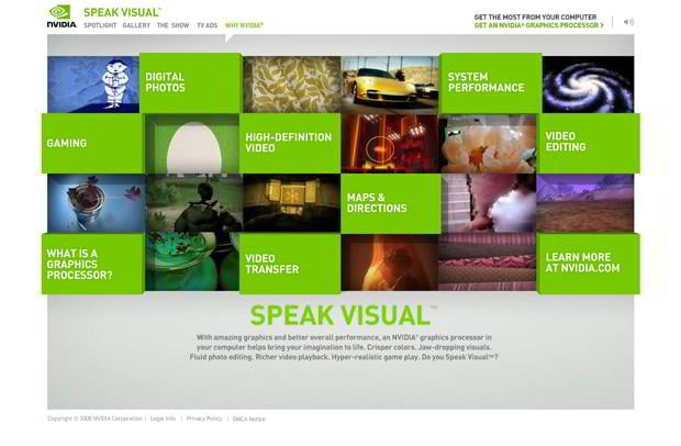 flash page design - Speakvisual.com