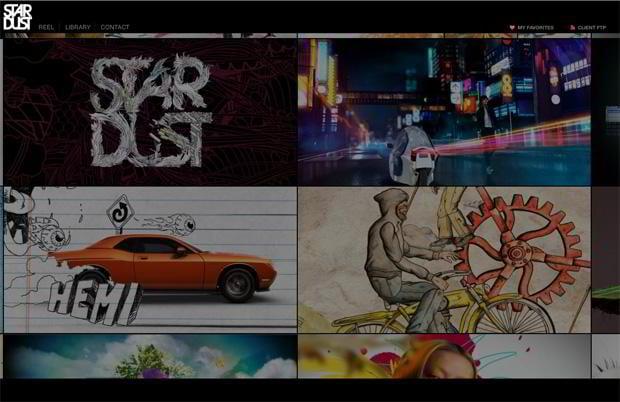 flash site design - Stardust.tv