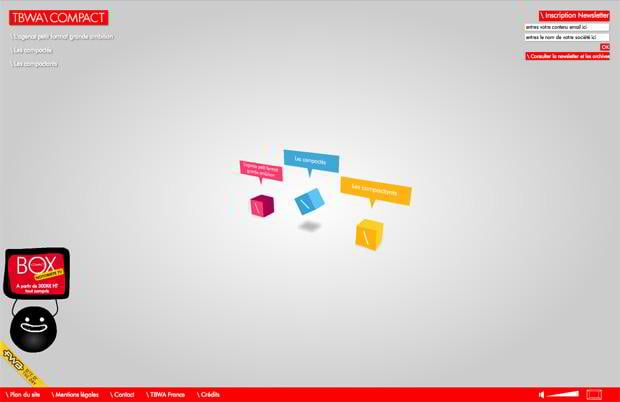 flash web site design - Tbwa-compact.com