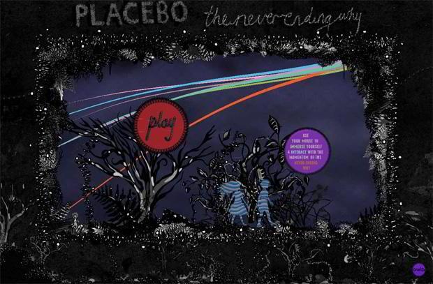 flash web site - Theneverendingwhy.placeboworld.co.uk