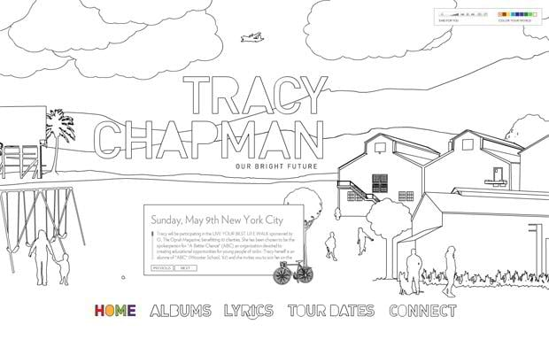 flash web design - Tracychapman.com