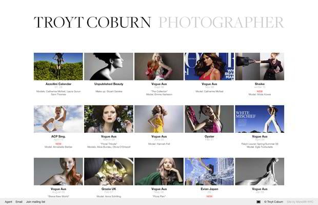flash portfolio web design - Troytcoburn.com