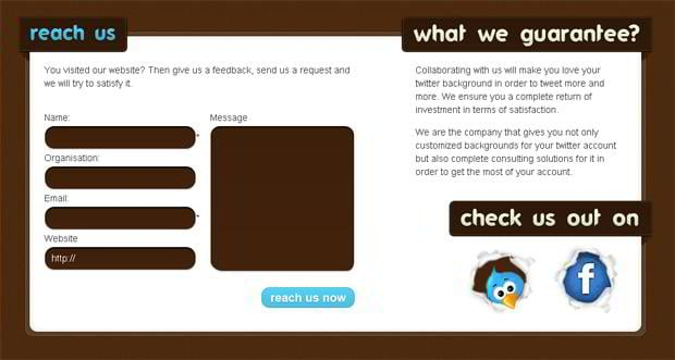 social icons web design - Twittground.com