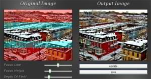 Canvas-Tilt-Shift Photo Effect
