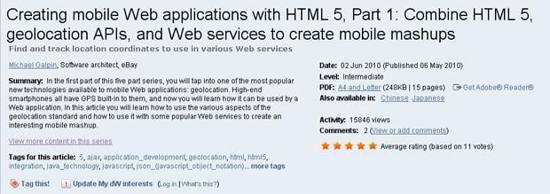 html5 mobile tutorial