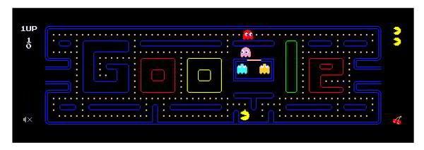 html5 games Google pacman