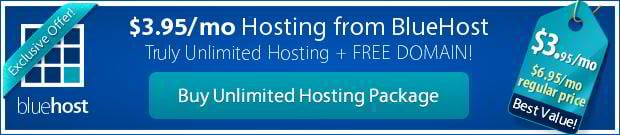 unlimited hosting bluehost