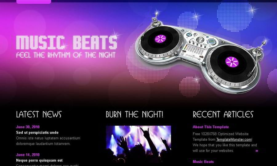 Rock Your Music Project with Free HTML5 Website Template