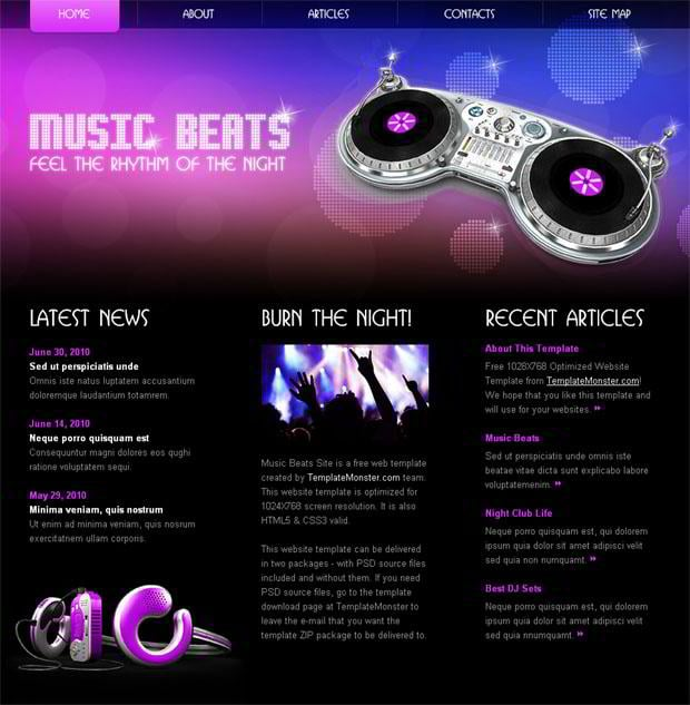 Rock Your Music Project with  most beautiful  HTML Website Template