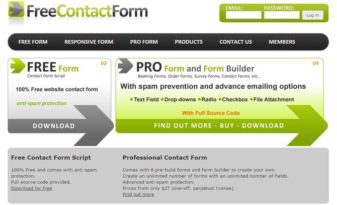 free contact form services