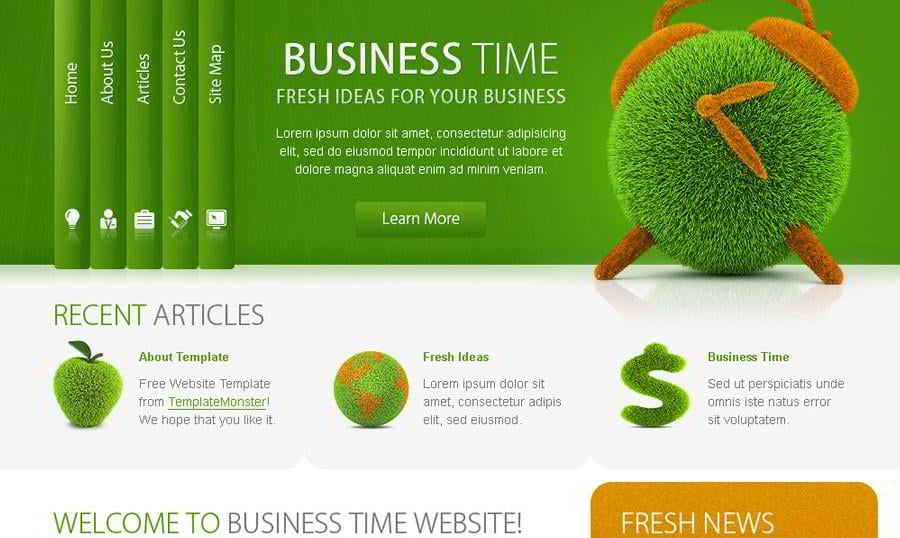 Free Business Website Template – Successful Solution for Your Project!
