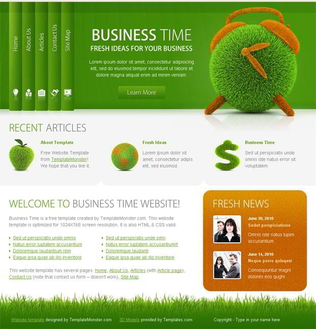 Free Business Website Template   Successful Solution for Your Project 3UbR99Vm