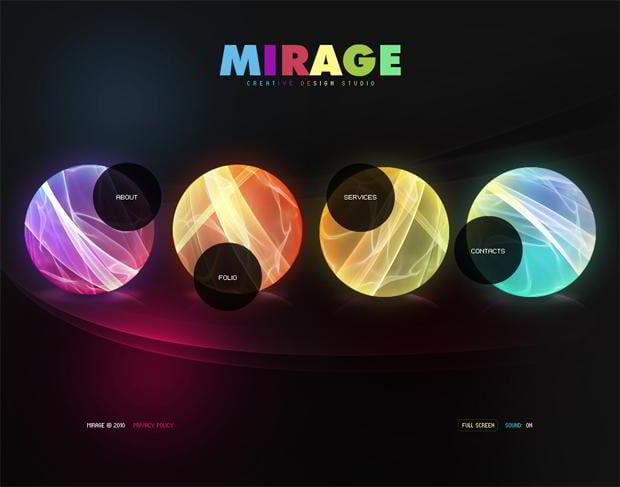 circular web designs