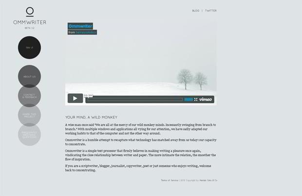 circular web design