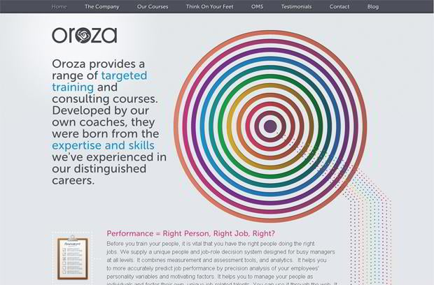 circular website designs