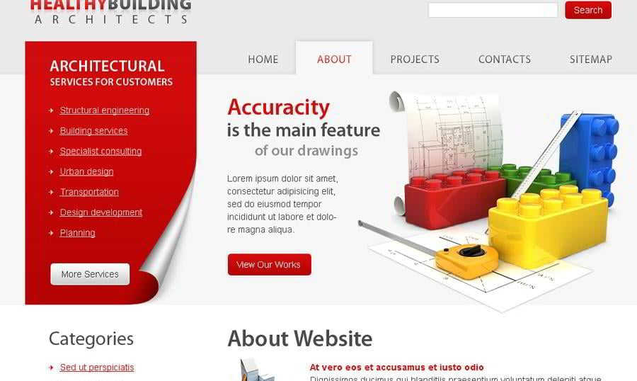 Free Architecture Website Template to Present Your Ideas Effectively