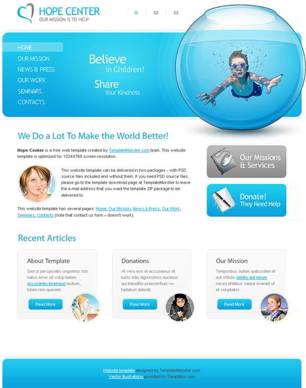 free charity website template share your kindness monsterpost