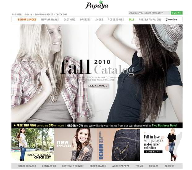 apparel web design