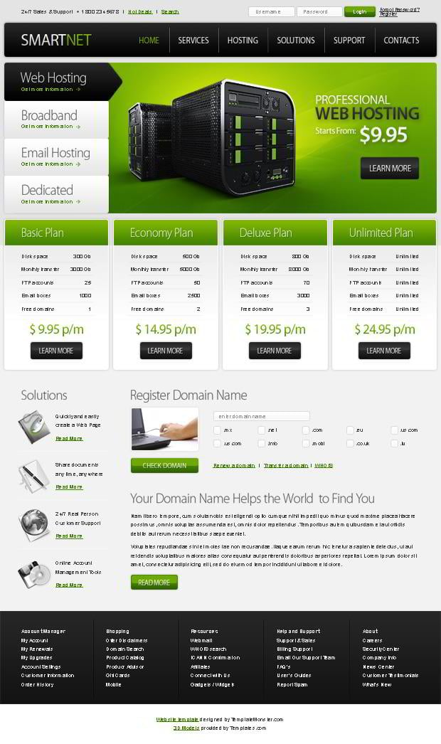 Free Website Template J4373W6Z
