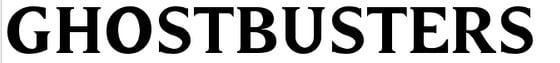 25 font del cinema gratis , risorse  , Ghostbusters