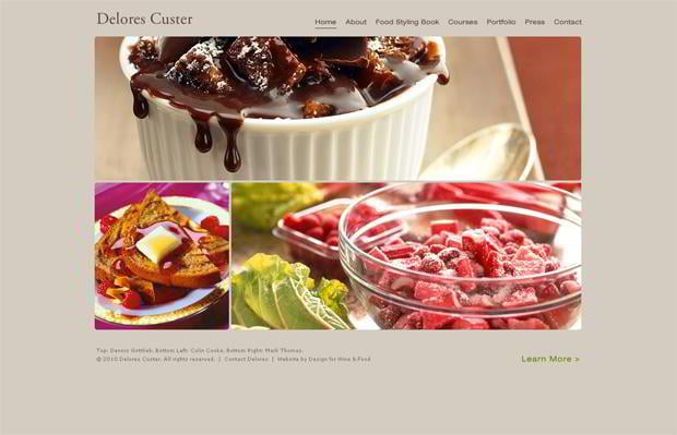 food photography web designs