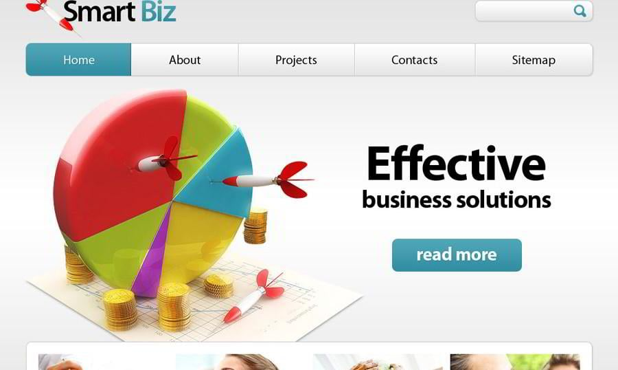 Free Business Website Template – Your Efficient Choice