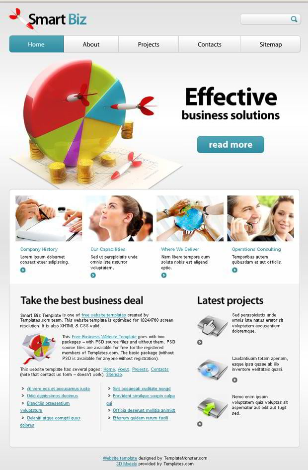 Free Business Website Template   Your Efficient Choice   MonsterPost 4J5SBQx0