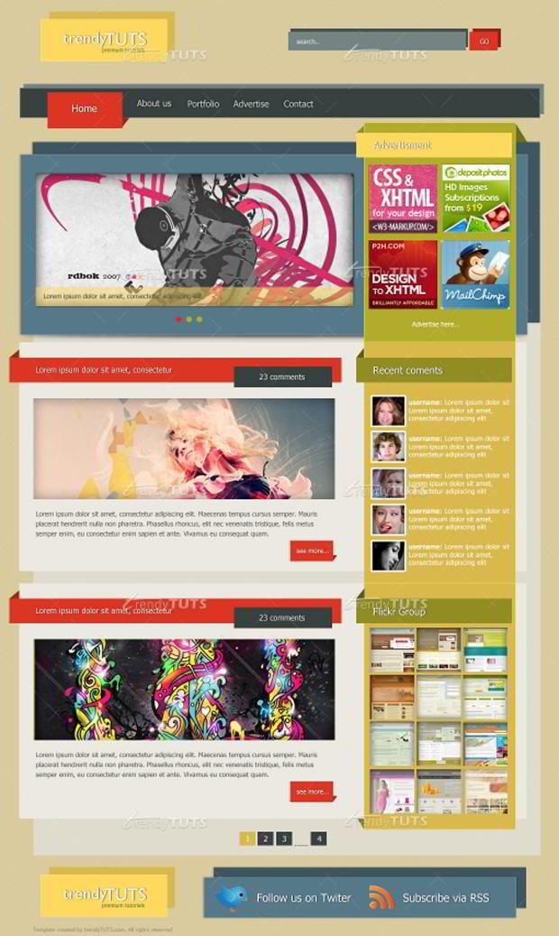 blog layout photoshop tutorials