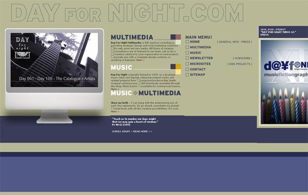 horizontal web design