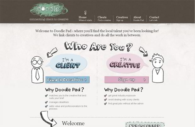 infographic driven website design