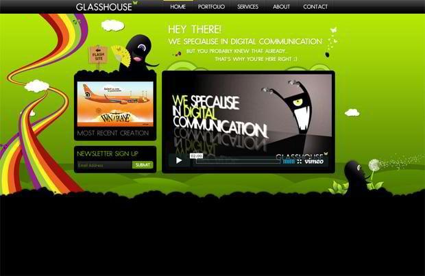 horizontally scrolling websites showcase