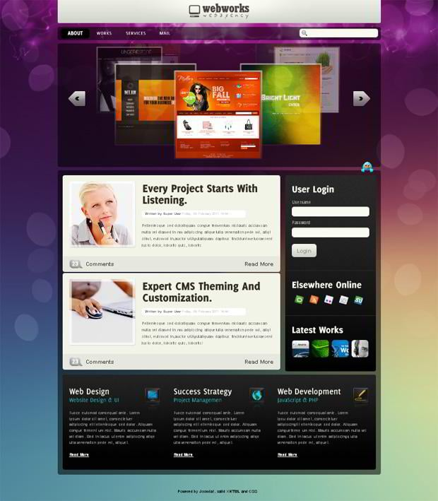 joomla 1.6 web template