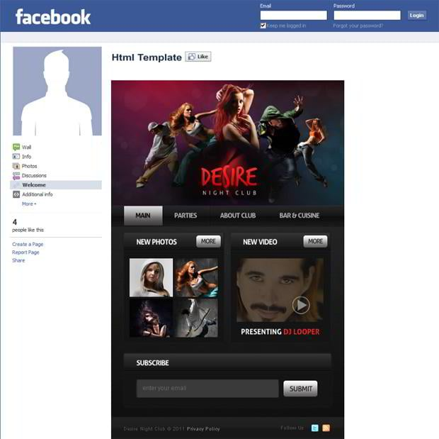 templatemonster introduces new facebook html templates