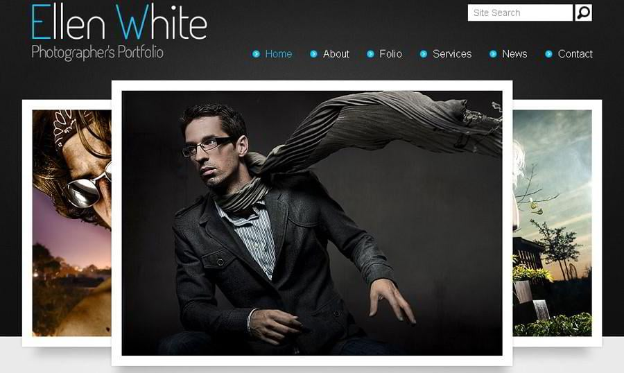 Free Website Template. Start Photographer's Portfolio!