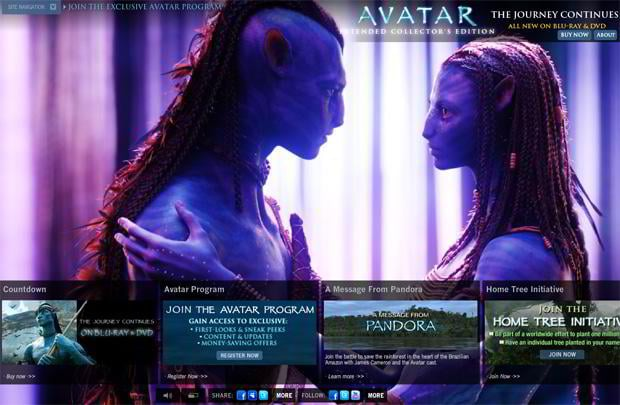 movie website designs