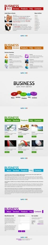 free website template for efficient business project monsterpost