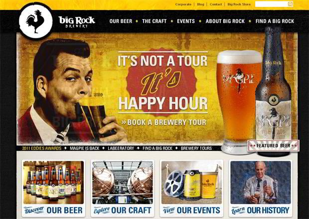 25 Creative Beer and Brewery Websites (+10 Creative Beer and