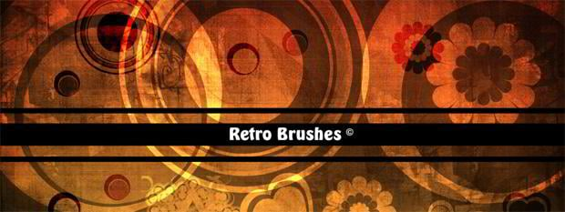 retro circle photoshop brushes