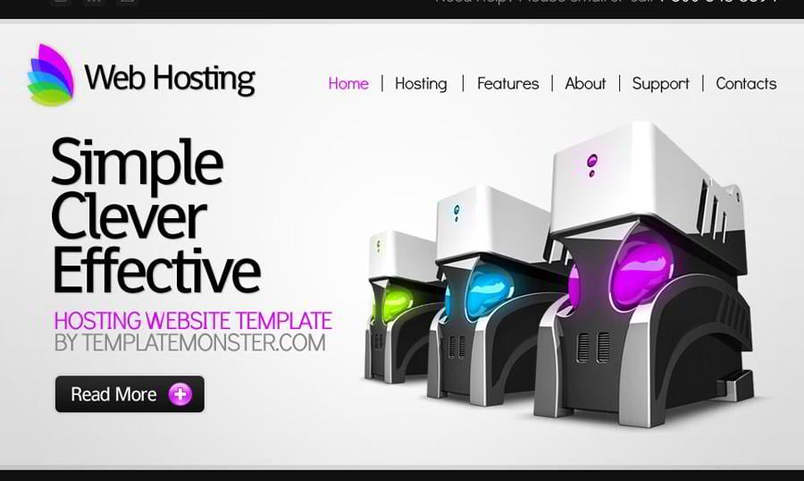 Free Website Template for Hosting Business