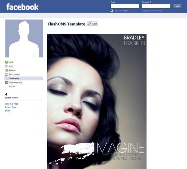 Portfolio Facebook Flash