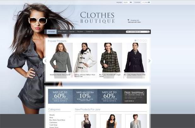 Fashion boutique website templates
