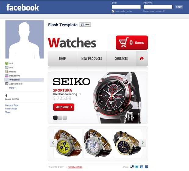 Facebook Store Templates – Roundup from TemplateMonster