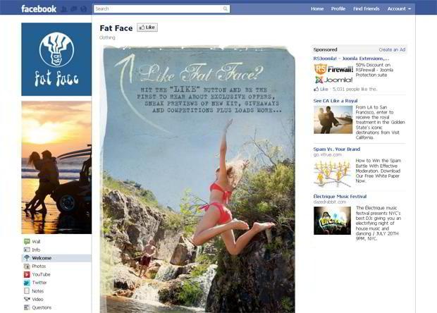 facebook store designs