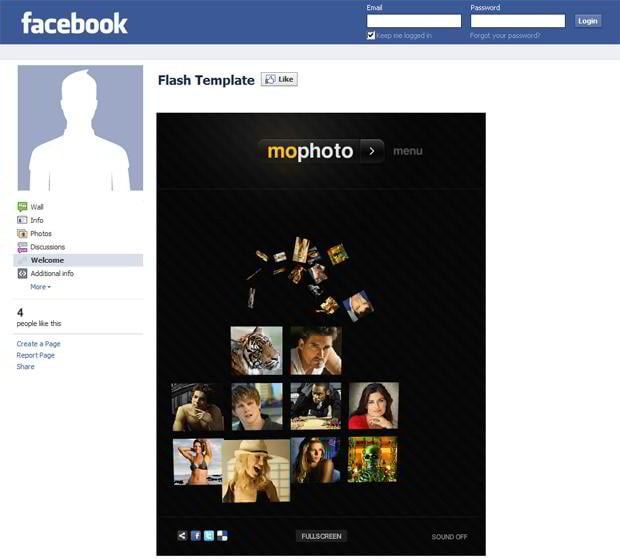 facebook flash template