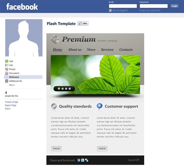facebook corporate and business templates showcase monsterpost. Black Bedroom Furniture Sets. Home Design Ideas