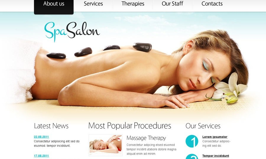 Free Website Template in Clean Style for Spa Salon
