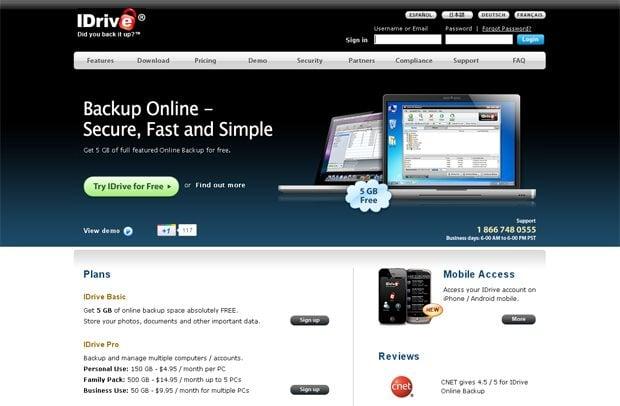 online data backup service