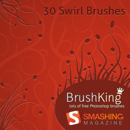 free photoshop swirl floral brushes